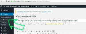 Cómo publicar una entrada en un blog de WordPress